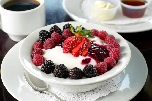 Yogurt and Fruit Breakfast